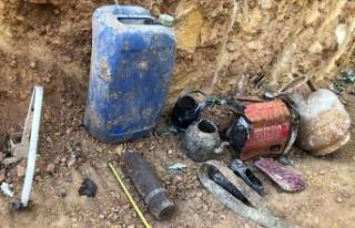 Bingöl'de PKK'lı teröristlere ait mühimmat...