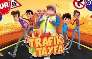 Çocuklara trafik kurallarını 'Trafik Tayfa'...