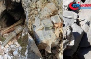 Hakkari'de teröristlere ait el yapımı patlayıcı...