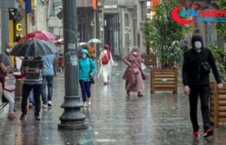 İstanbul'da kısa süreli sağanak ve gök gürültülü...