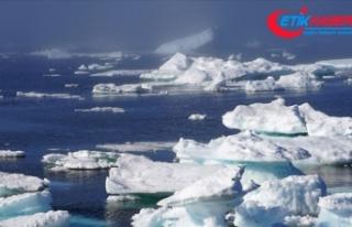 Küresel ısınma nedeniyle buzul göllerinin alanı...