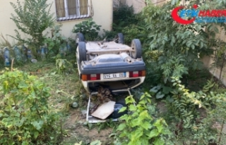 Sarıyer'de feci kaza: Otomobil 10 metreden evin...
