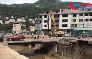 Selin büyük hasara yol açtığı Dereli yeniden...