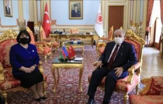TBMM Başkanı Şentop, Azerbaycan Milli Meclis Başkanı...