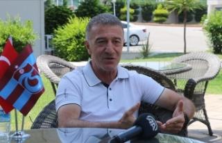 Trabzonspor Başkanı Ağaoğlu: Tüm transferlerimiz...