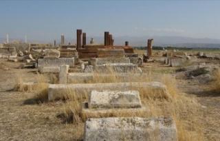 Van'da tarihi Selçuklu-Karakoyunlu Mezarlığı...