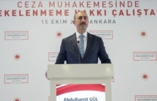 Adalet Bakanı Gül: 2017 eylülden bugüne kadar...