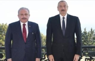 Azerbaycan Cumhurbaşkanı Aliyev, TBMM Başkanı...