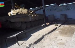 Azerbaycan ordusu Fuzuli'de Ermenistan'a ait askeri...