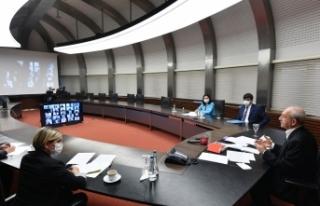 CHP Genel Başkanı Kılıçdaroğlu, video konferans...