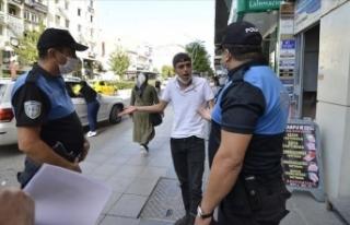 Çorum'da maske takmayıp polise direnen kişiye...