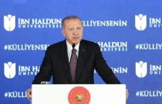 Cumhurbaşkanı Erdoğan: Genç bir nüfusa sahibiz...