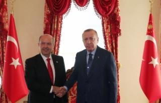 Cumhurbaşkanı Erdoğan'dan KKTC Cumhurbaşkanı...