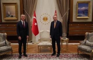 Cumhurbaşkanı Erdoğan'ın Stoltenberg ile görüşmesi...