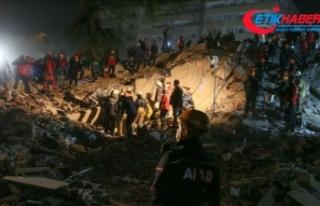 Deprem bölgesinde görevlendirilen personel sayısı...