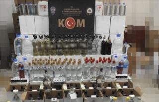 Eskişehir'de 477 litre sahte ve kaçak içki...