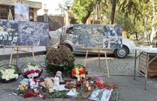 Gürcistan'da Gence'ye düzenlenen saldırıda...