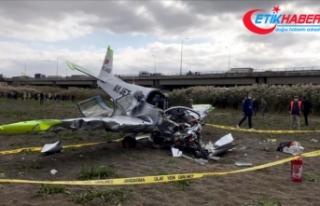 İstanbul'da eğitim uçağı düştü, pilotaj...