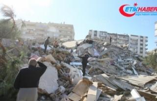 İzmir'deki 6,6 büyüklüğündeki depremde...