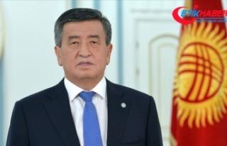 Kırgızistan Cumhurbaşkanı Ceenbekov, Bişkek'te...