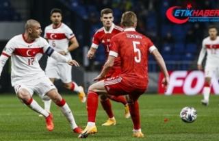 Milli takım Rusya'da galibiyeti kaçırdı