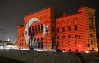 Saraybosna'nın sembollerinden Vijecnica'ya...