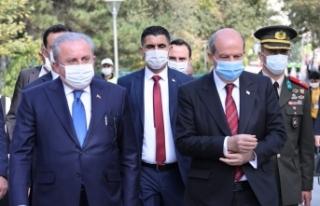 TBMM Başkanı Şentop, KKTC Cumhurbaşkanı Tatar...