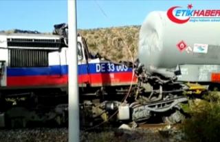 Yozgat'ta yük trenlerinin çarpışması sonucu...