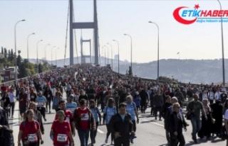 42. İstanbul Maratonu nedeniyle bazı yollar trafiğe...