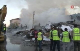 Ankara'da korkutan yangından geriye küller...