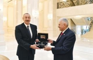 Azerbaycan Cumhurbaşkanı Aliyev, Binali Yılıdırım'ı...
