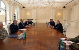 Azerbaycan Cumhurbaşkanı Aliyev, Çavuşoğlu ve...