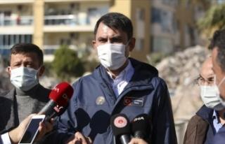 Bakan Kurum: Şu an İzmir için acil yıkılacak,...