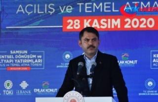Çevre ve Şehircilik Bakanı Kurum: 5 yılda 1,5...