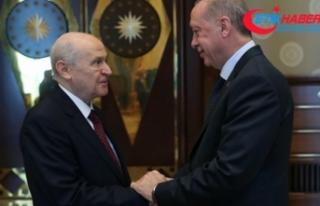 Cumhurbaşkanı Erdoğan ve MHP Lideri Bahçeli'den...