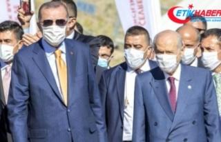 Cumhurbaşkanı Erdoğan ve MHP Lideri Devlet Bahçeli...