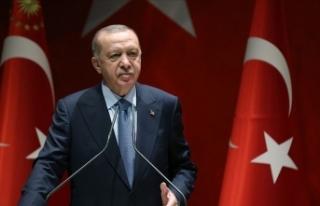 Cumhurbaşkanı Erdoğan'dan Azerbaycan Bayrak...