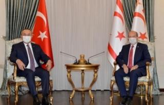 Dışişleri Bakanı Çavuşoğlu, KKTC Cumhurbaşkanı...