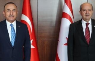 Dışişleri Bakanı Çavuşoğlu KKTC Cumhurbaşkanı...
