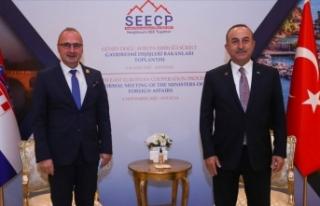 Dışişleri Bakanı Mevlüt Çavuşoğlu, Hırvatistanlı...