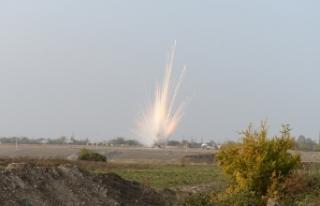 Ermenistan'ın Terter'e attığı yasaklı fosforlu...