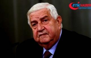 Esed rejiminin Dışişleri Bakanı Velid Muallim...