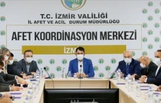 İzmir'de Bakan Kurum başkanlığında koordinasyon...