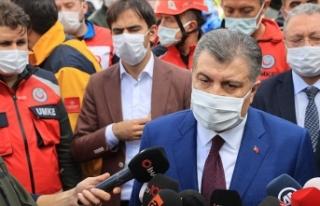 Sağlık Bakanı Koca: Enkazdan çıkarılan Elif...