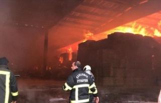 Şanlıurfa'da tekstil fabrikasında yangın...