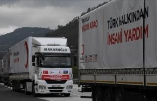Türk Kızılay Azerbaycan'da acıları dindirmek...