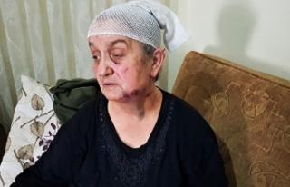 Yaşlı kadın hırsızın elinden ölü numarası...