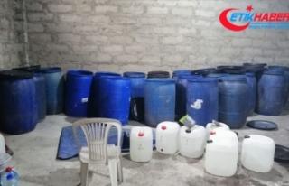 Adana'da 9 bin 440 litre sahte içki ele geçirildi