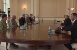 Akar ve TSK komuta kademesi Azerbaycan Cumhurbaşkanı...