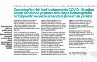 Bakan Koca'dan Gaziantep'te hastanedeki patlamayla...
